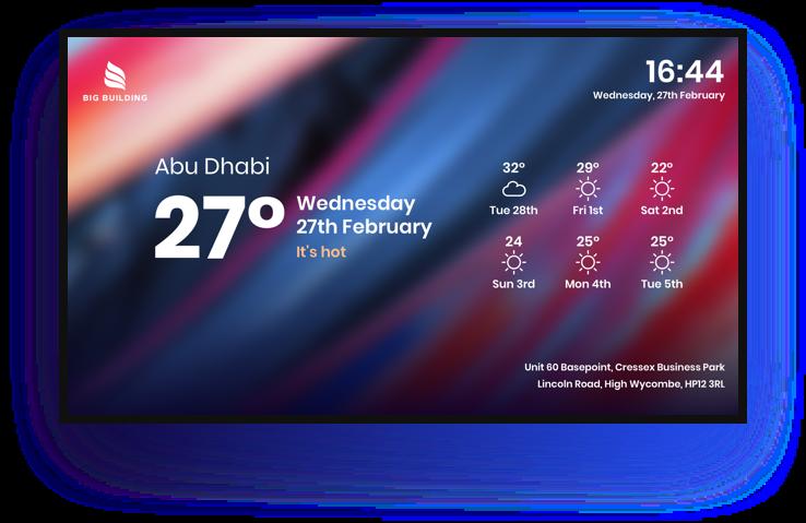 digital signage weather app