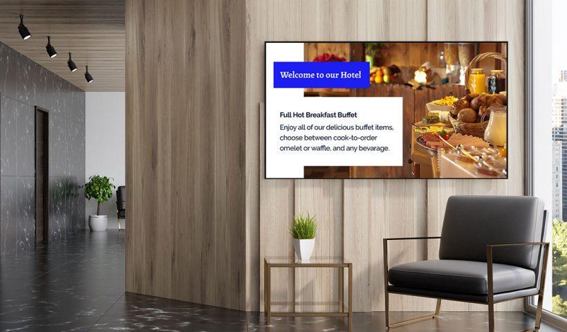 digital signage hotel