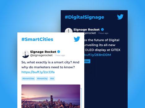 digital signage social twitter
