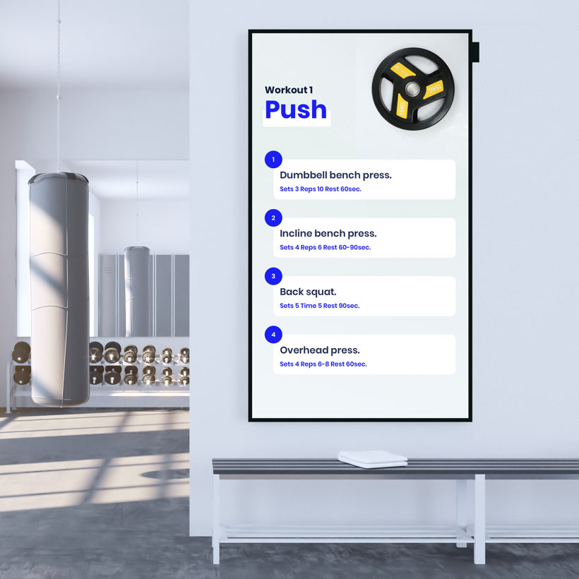 digital signage gym