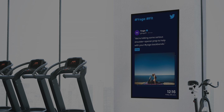 digital signage gym fitness