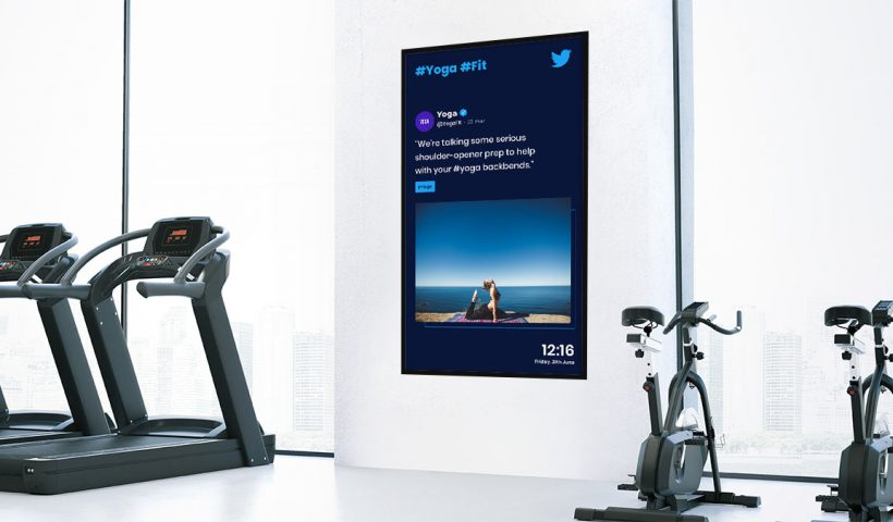 digital signage fitness gym