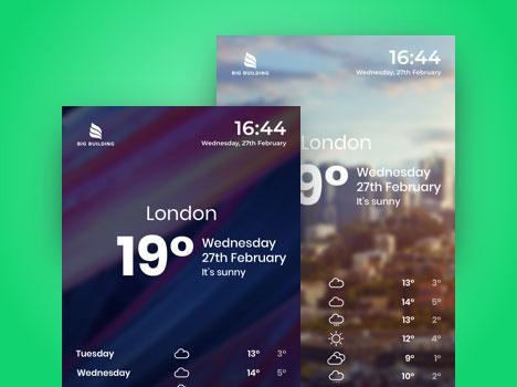 digital signage weather