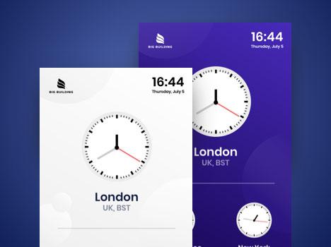 digital signage clock